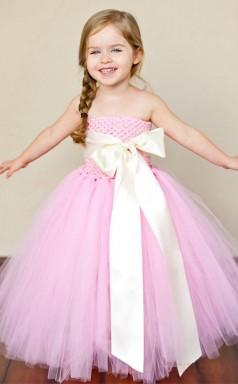 Princess Off The Shoulder Pearl Pink Kids Girls Dress CH0157