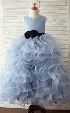 Princess Jewel Lavender Blue Kids Girls Dress CH0173
