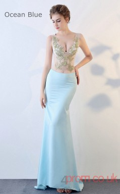 Evening Illusion Crystal V-neck Clubwear Dress Auto Salon Girls BX-G832