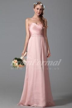 A-line Sweetheart Long Blushing Pink 30D Chiffon Evening Dresses(PRJT04-1822)
