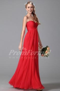 A-line Sweetheart Long Red 100D Chiffon Evening Dresses(PRJT04-1823)
