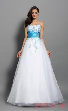 White Organza Sweetheart Floor-length Princess Quincenera Dress(JT2043)