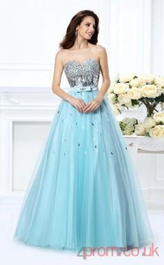 Powder Blue Organza Sweetheart Floor-length Princess Quincenera Dress(JT2044)