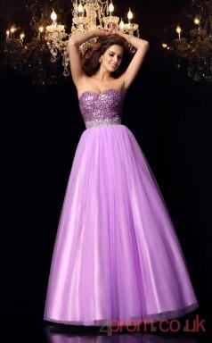 Lilac Organza Sweetheart Floor-length Princess Quincenera Dress(JT2046)
