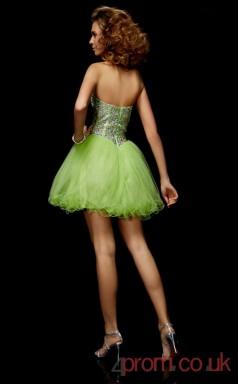 Pale Green Tulle A-line Short Sweetheart Graduation Dress(JT2113)