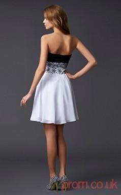 White Chiffon A-line Short Sweetheart Graduation Dress(JT2158)