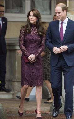 Grape Lace Sheath High Neck Long Sleeve Short/Mini Celebrity Dress(JT3544)