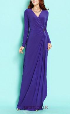 Regency Spendex Sheath V-neck Long Sleeve Long Celebrity Dress(JT3547)