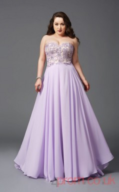 Ball Gown Lilac Tulle,Lace Sweetheart Sleeveless Floor-length Plus Size Dress(PLJT8018)