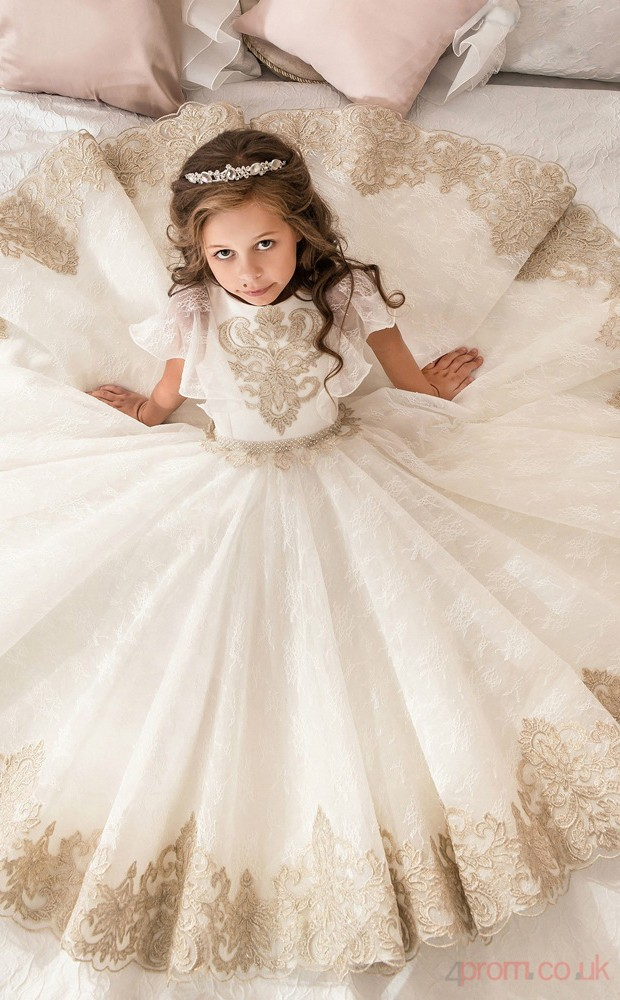 Ball Gown Sleeveless Kids Prom Dress for Girls CH0108 - 4prom.co.uk