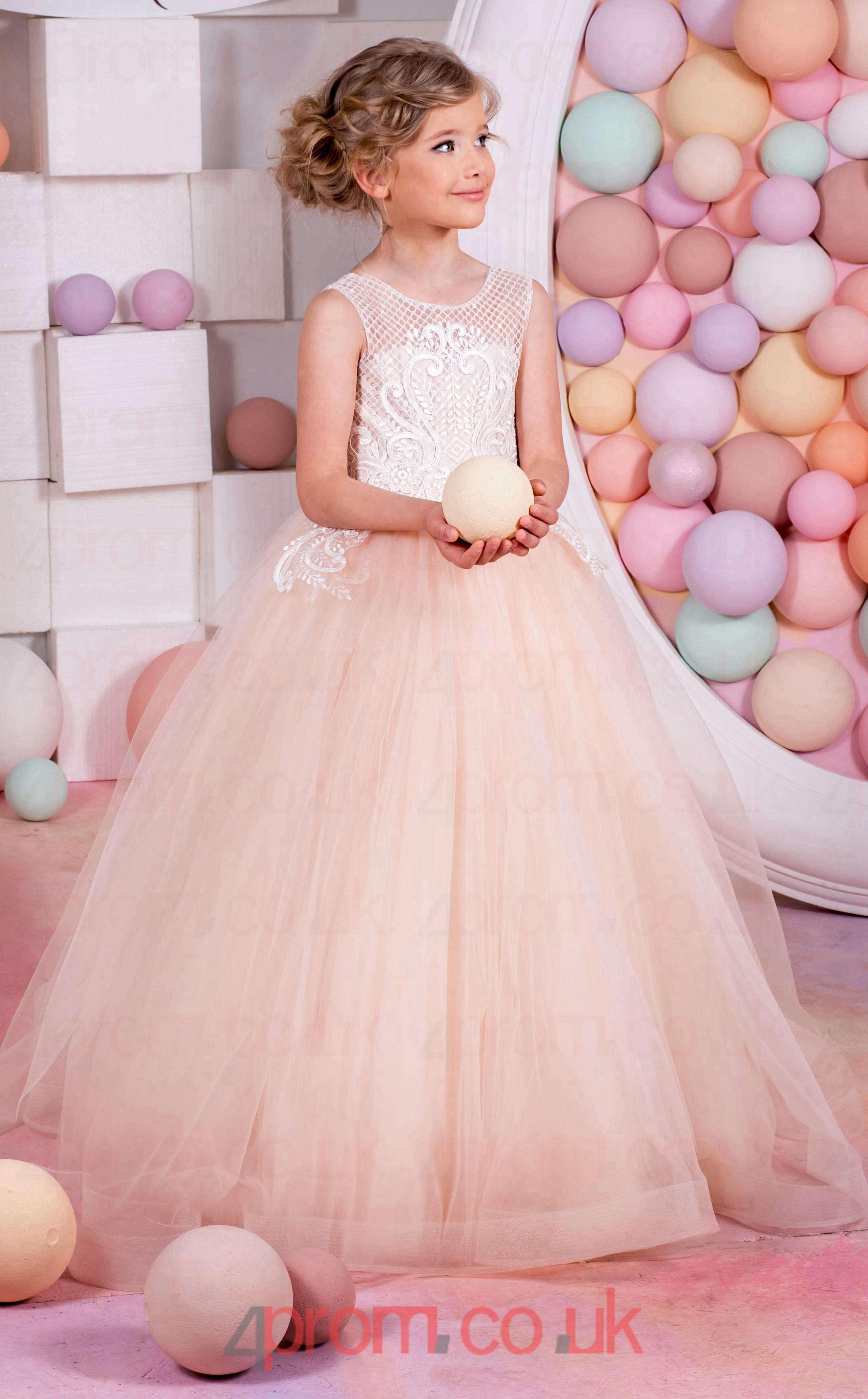 e73af45b84c Baby Pink Flower Girl Dresses