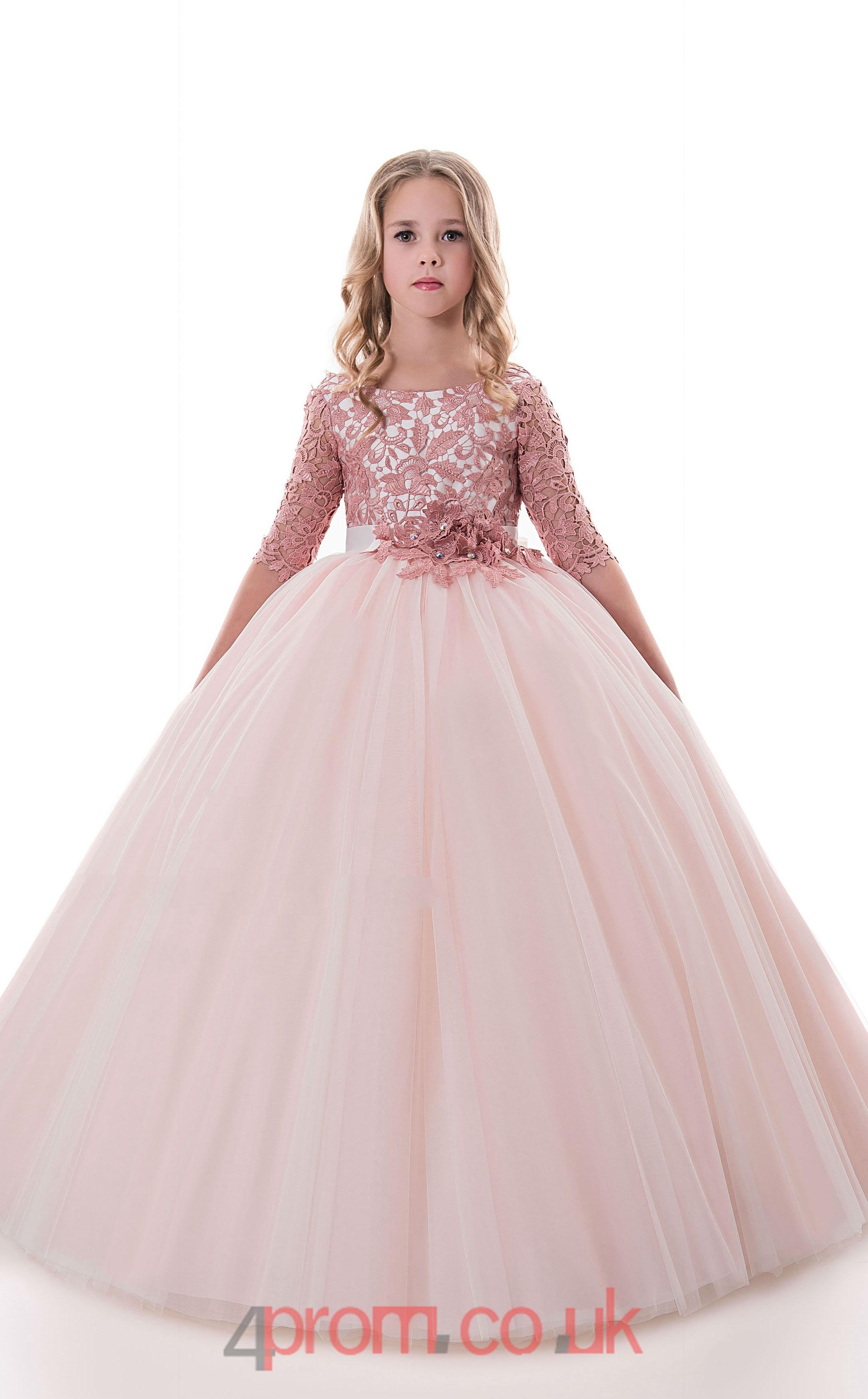 Jewel Half Sleeve Chic Kids Prom Dresses Chk011 4prom Co Uk