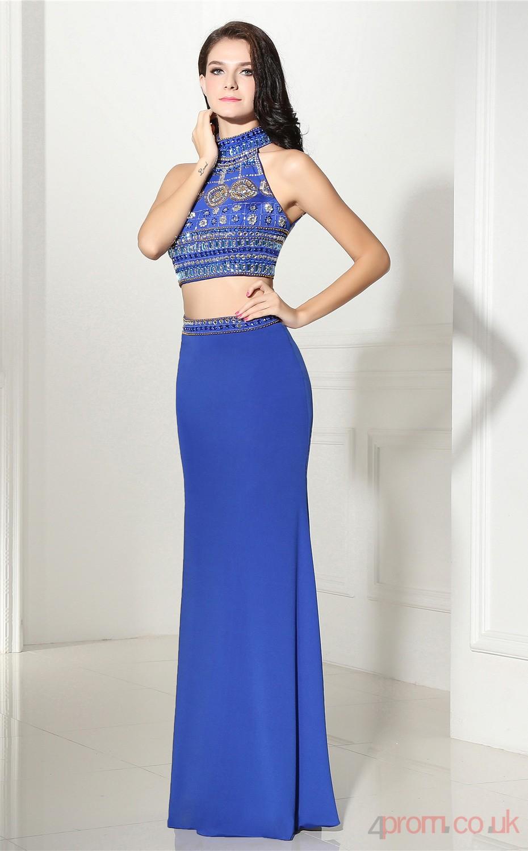 8839f24b835 Royal Blue Satin Mermaid Prom Dress