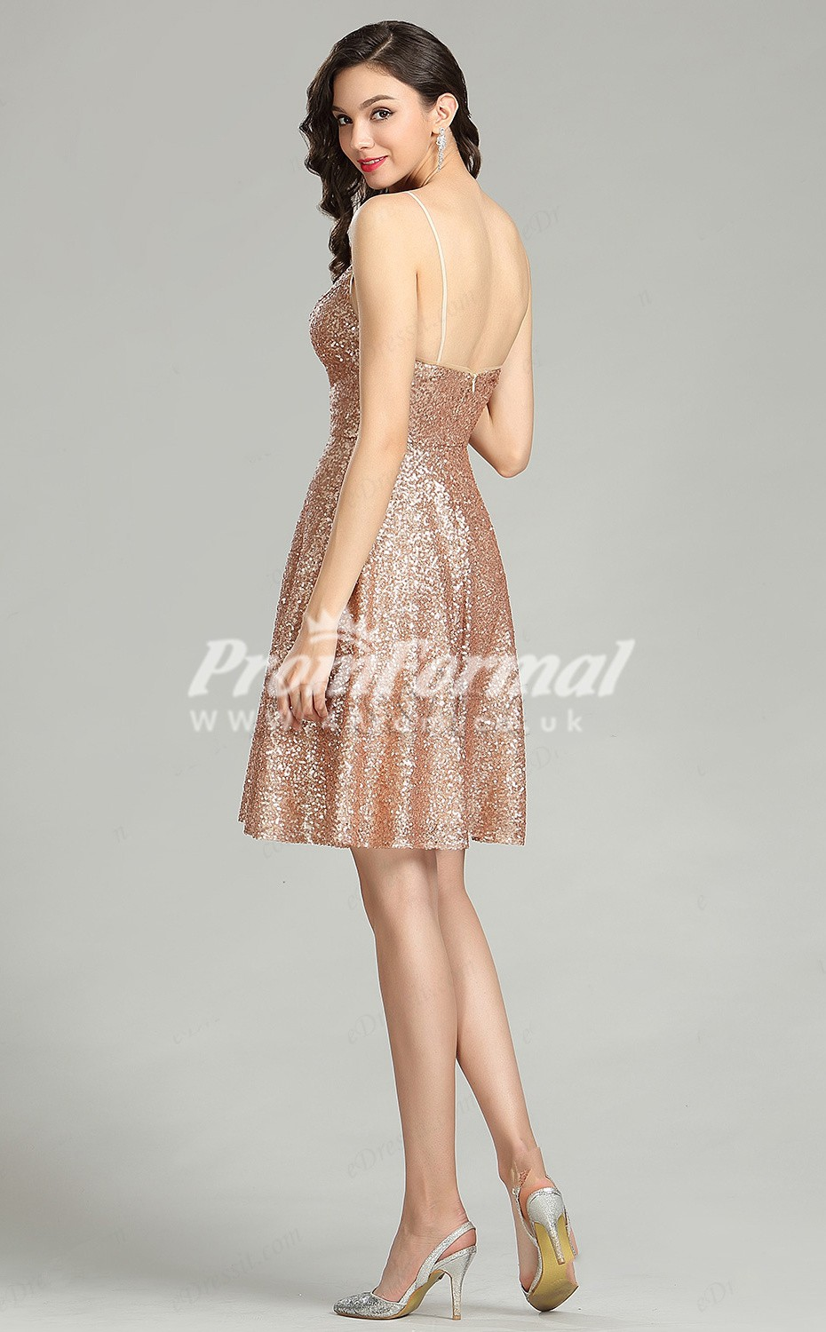 2162d84dba4 Rose Gold Sequin Short Prom Dress - Gomes Weine AG