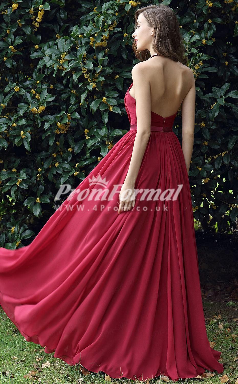 Ebd029 Halter Burgundy Bridesmaid Dresses 4prom Co Uk