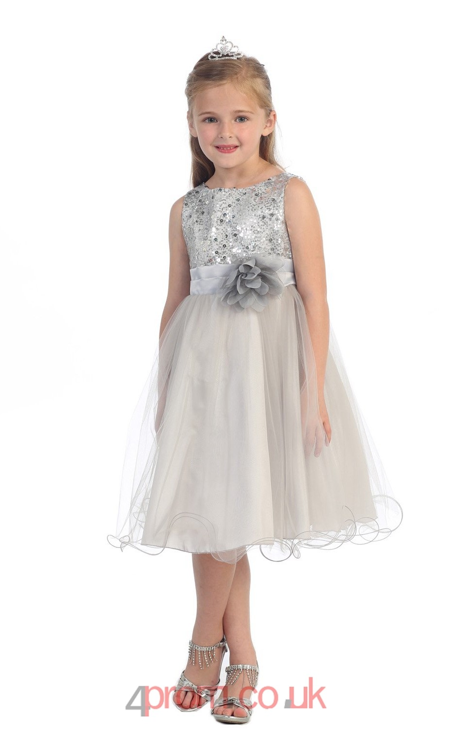 champange sequined tulle jewel sleeveless tealength a