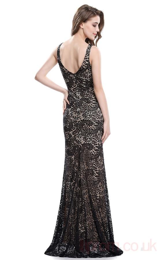 Sheath Asymmetric Long Black Lace Prom Dresses(PRJT04-1942-A) -4prom ...