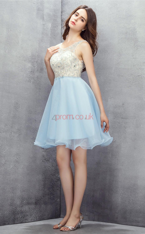 Ever-Pretty Elegant Girls Sleeveless Homecoming Bridesmaid Dresses Gown 07173