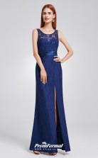 Blue Illusion Bridesmaid Dresses 4MBD009