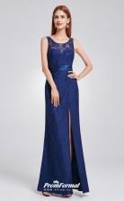 Blue Illusion Bridesmaid Dresses 4MBD009
