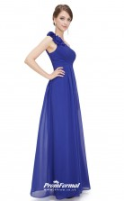 Blue One Shoulder Bridesmaid Dresses 4MBD025