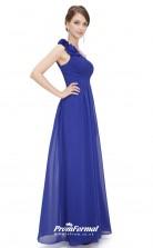 Blue One Shoulder Bridesmaid Dresses 4MBD025