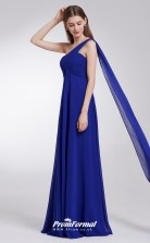 Blue One Shoulder Bridesmaid Dresses 4MBD026