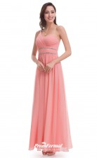 Pink One Shoulder Bridesmaid Dresses 4MBD027