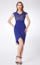 Blue V-neck Bridesmaid Dresses 4MBD041