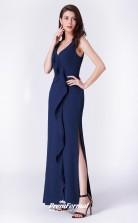 Navy Blue V-neck Bridesmaid Dresses 4MBD047