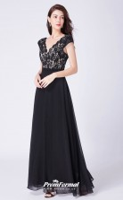 Black V-neck Bridesmaid Dresses 4MBD050