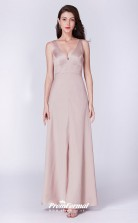 Champagne V-neck Bridesmaid Dresses 4MBD052