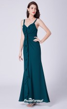 Ink Blue Straps Bridesmaid Dresses 4MBD061