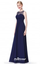 Navy Blue Illusion Bridesmaid Dresses 4MBD062