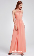 Pink Halter Bridesmaid Dresses 4MBD063