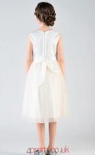 Princess Jewel Sleeveless Beige Organza Satin Knee-length Children's Prom Dress(AHC025)