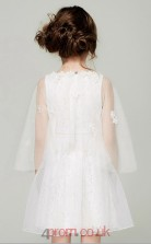 A-line Jewel Sleeveless White Lace Mini Children's Prom Dress(AHC050)