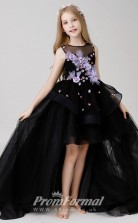 Princess Black Girls High Low Pageant Dress BCH017