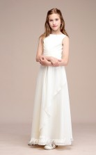 White Chiffon Kids Girl Bridsmaids Dress BCH042