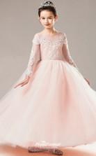Affordable Pink Jewel Junior Bridesmaid Dress Floor-length Pageant Dress BCH063