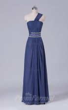 A-line Gray Chiffon Floor-length Prom Dress(PRBD04-S492)