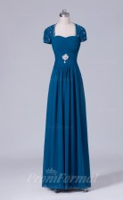 A-line Aegean Chiffon Floor-length Prom Dress(PRBD04-S537)