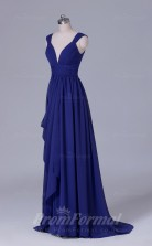 A-line Regency Chiffon Floor-length Prom Dress(PRBD04-S540)