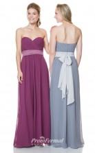 1522UK2028 A Line Sweetheart Dark Fuchsia Chiffon Zipper Bridesmaid Dresses