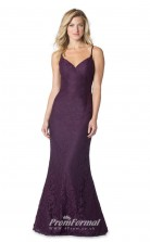 1609UK2068 Mermaid/Trumpet Sweetheart Grape Lace Mid Back Bridesmaid Dresses