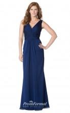 1629UK2087 Mermaid/Trumpet V Neck Royal Blue Chiffon Low Back Bridesmaid Dresses