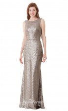 1652UK2093 Mermaid/Trumpet Scoop Khaki Lace Chiffon Low Back Bridesmaid Dresses