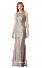 1652UK2093 Mermaid/Trumpet Scoop Khaki Lace Chiffon Low Back Bridesmaid Dresses