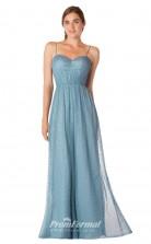 1739UK2161 A Line Sweethear Power Blue Lace Zipper Bridesmaid Dresses