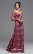 BDUK2231 Mermaid/Trumpet Lotus Lace Straps Ankle Length Bridesmaid Dress